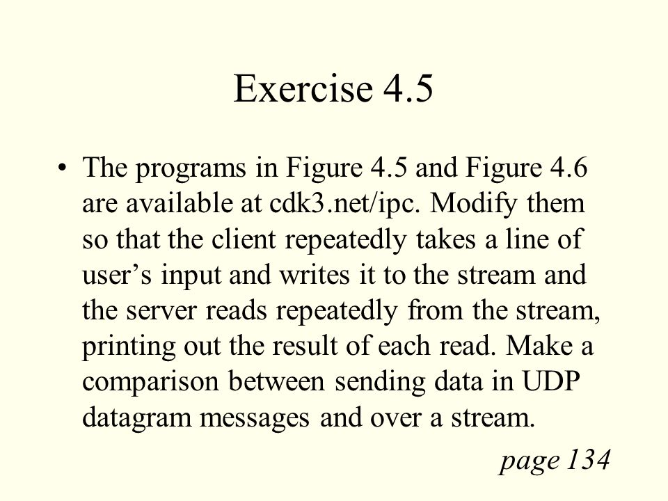 Exercise 4.5