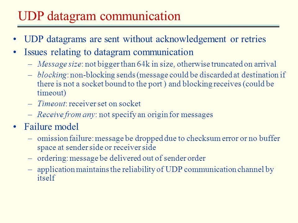 UDP datagram communication