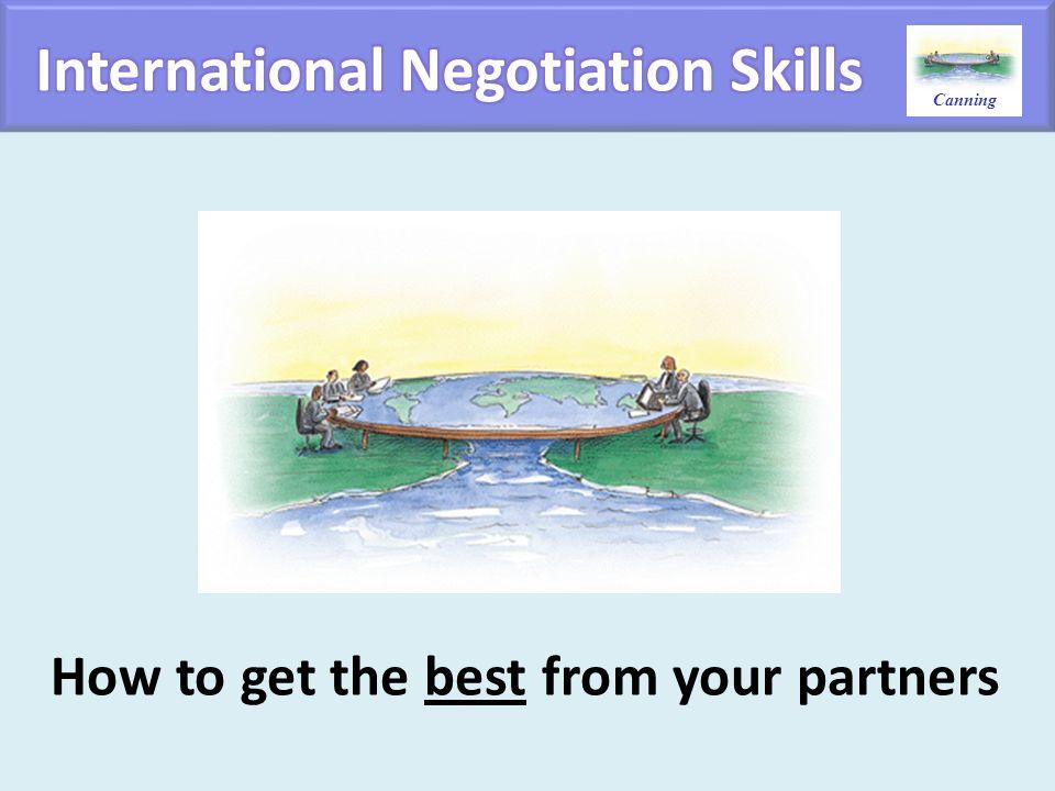 International Negotiation Skills