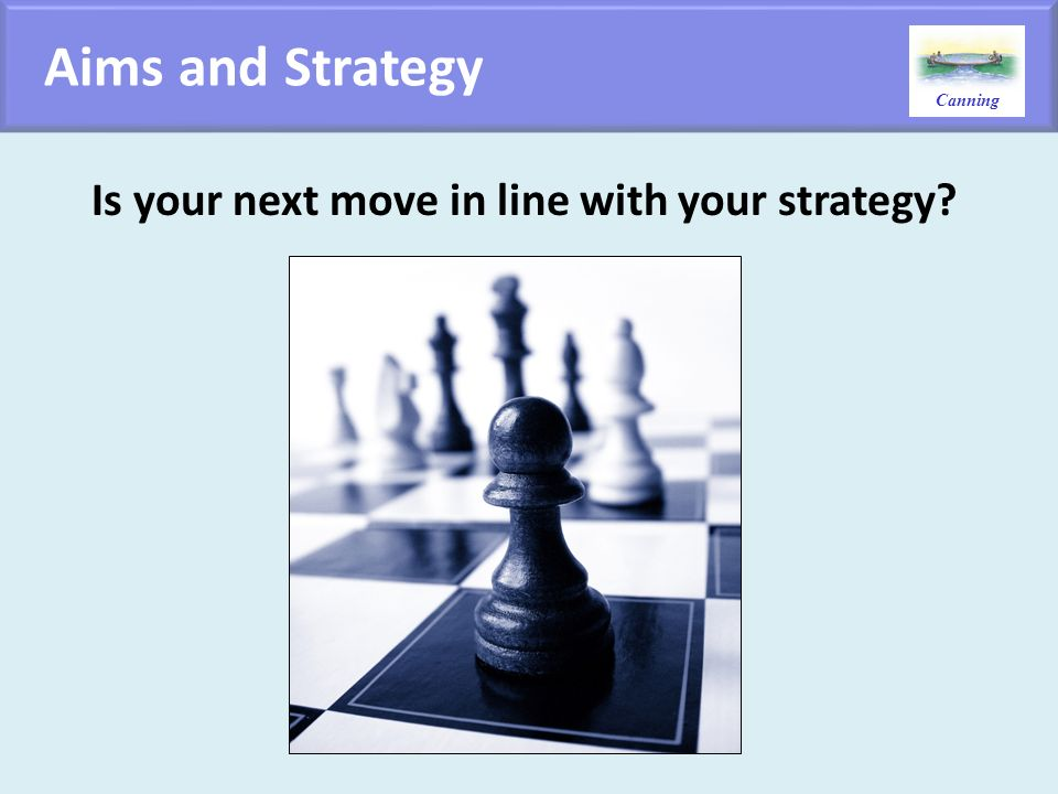 Is your next move in line with your strategy