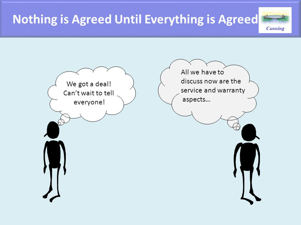Nothing is Agreed Until Everything is Agreed