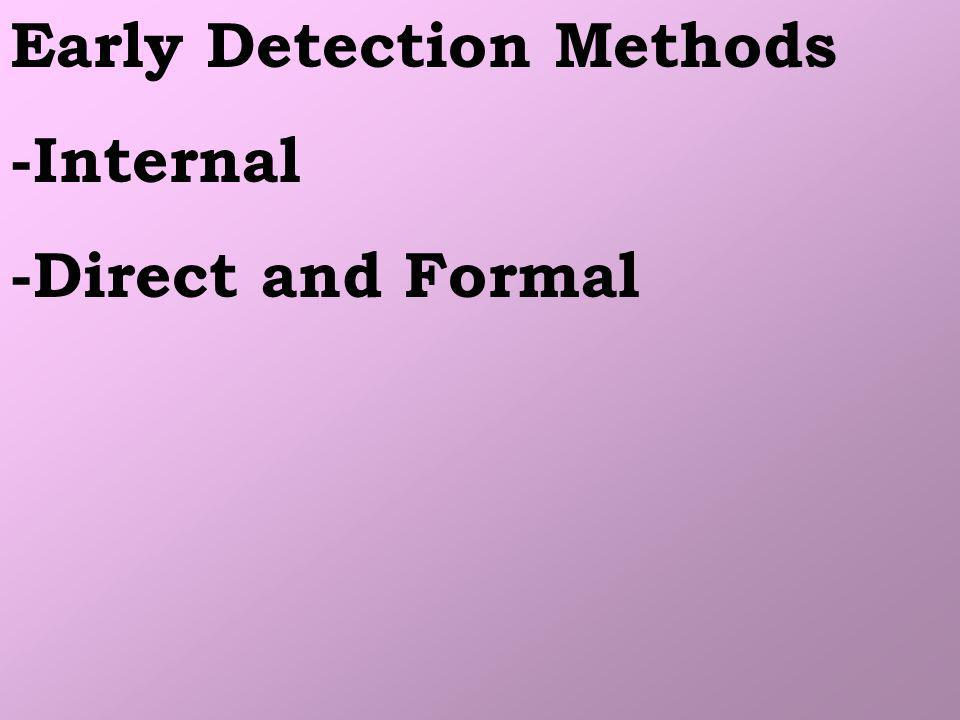 Early Detection Methods