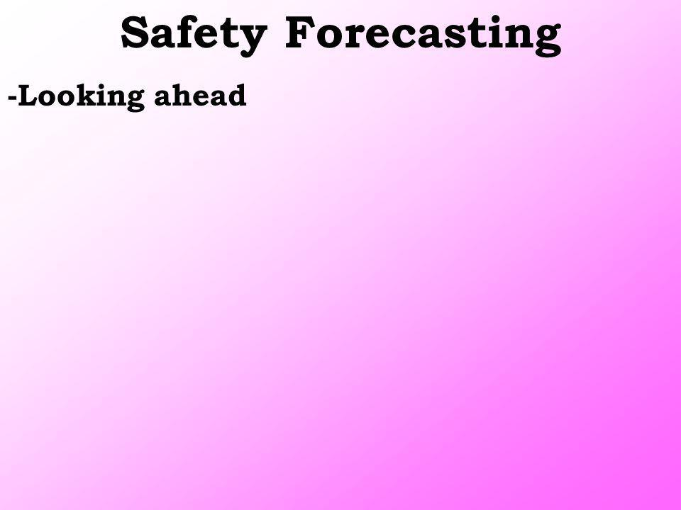 Safety Forecasting -Looking ahead
