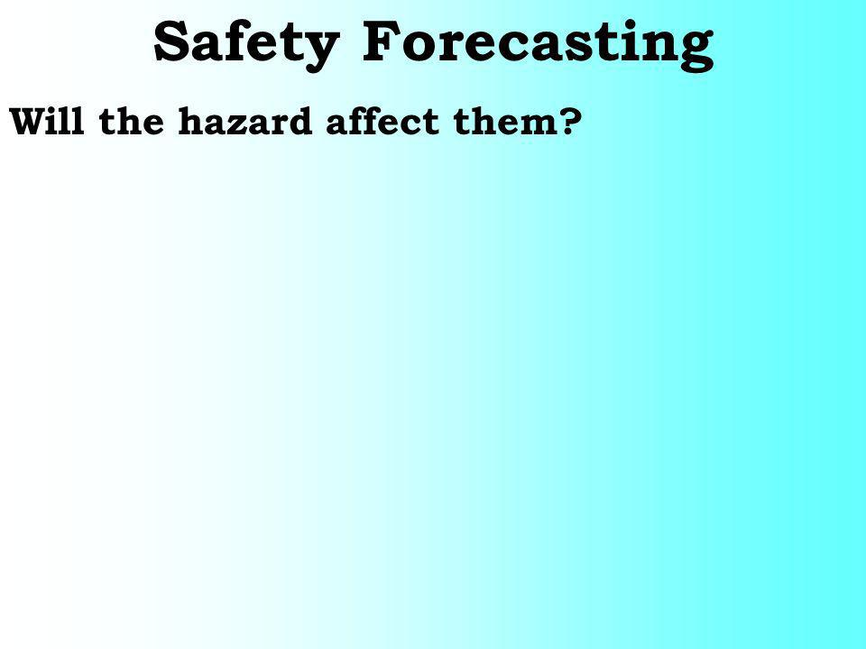 Safety Forecasting Will the hazard affect them