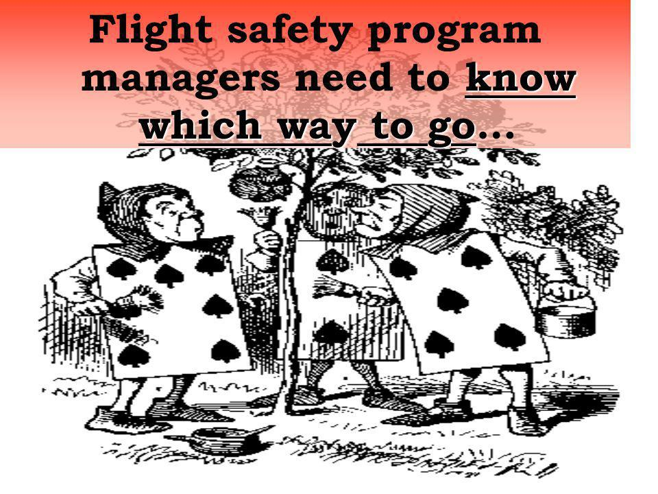 Flight safety program managers need to know which way to go…