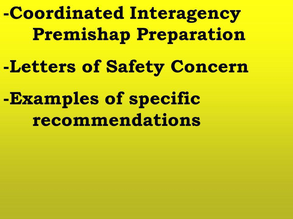 -Coordinated Interagency Premishap Preparation