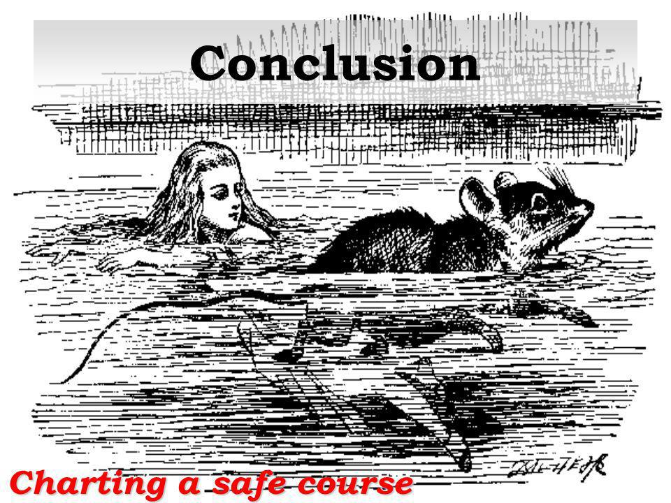 Conclusion Charting a safe course