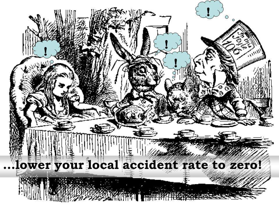 ! ! ! ! ! …lower your local accident rate to zero!