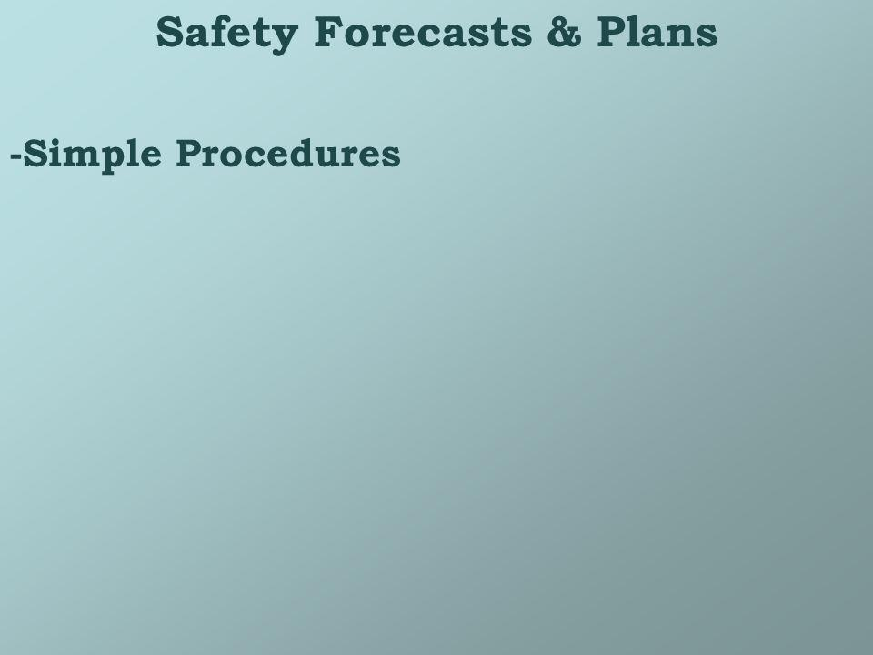 Safety Forecasts & Plans