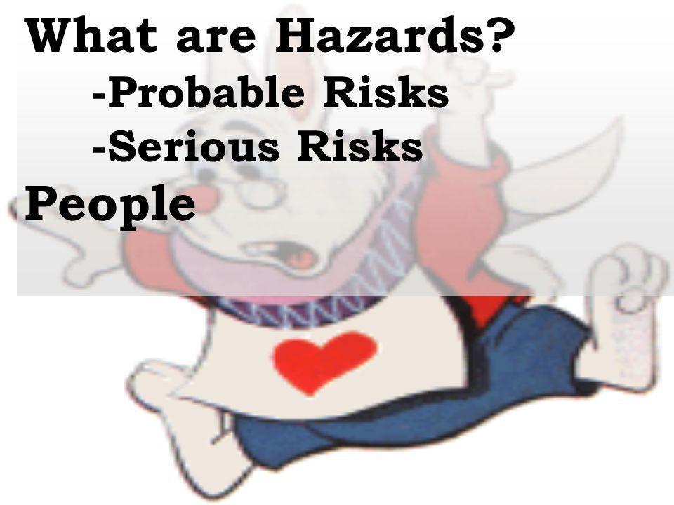 What are Hazards -Probable Risks -Serious Risks People