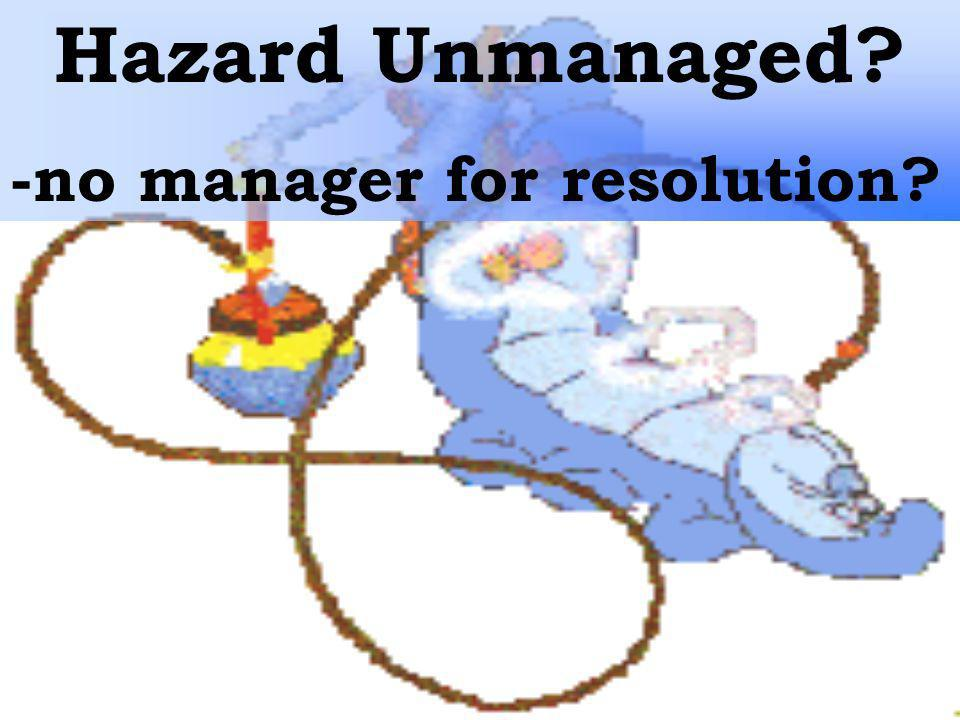 Hazard Unmanaged -no manager for resolution