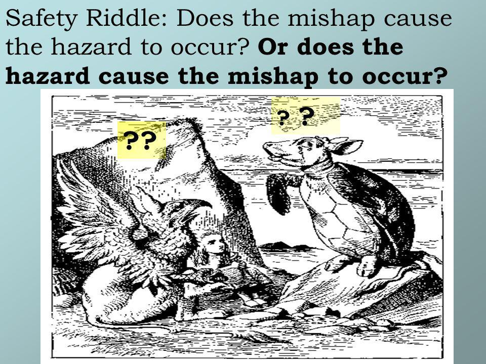 Safety Riddle: Does the mishap cause the hazard to occur