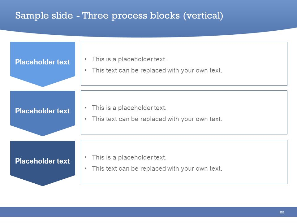 Sample slide - Three process blocks (vertical)
