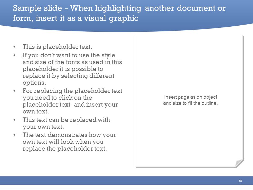 Insert page as on object and size to fit the outline.