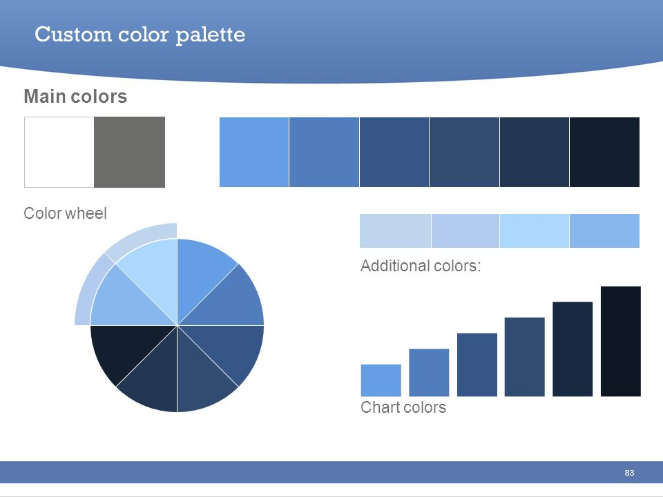 Custom color palette Main colors Color wheel Additional colors: