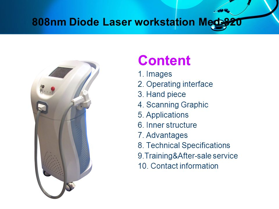 808nm Diode Laser workstation Med-820
