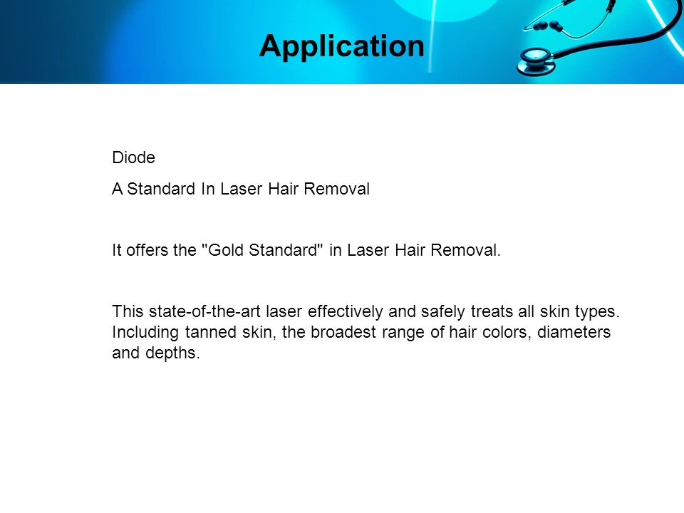 Application Diode A Standard In Laser Hair Removal
