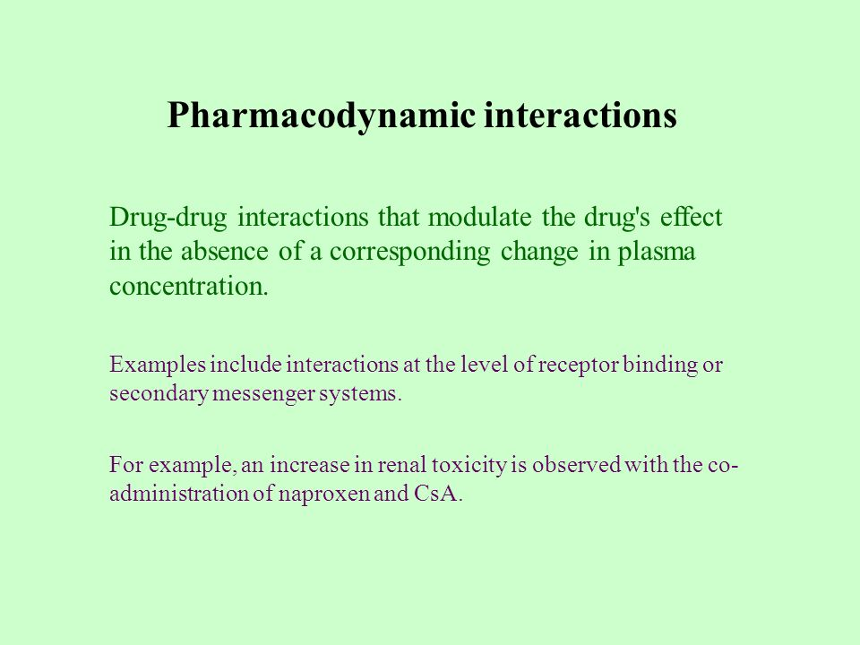 drug receptor interactions review It considers both drug action, which refers to the initial consequence of a drug-receptor interaction, and drug effect, which refers to the subsequent effects the drug action of digoxin , for example, is inhibition of membrane na + /k + -atpase the drug effect is augmentation of cardiac contractility.
