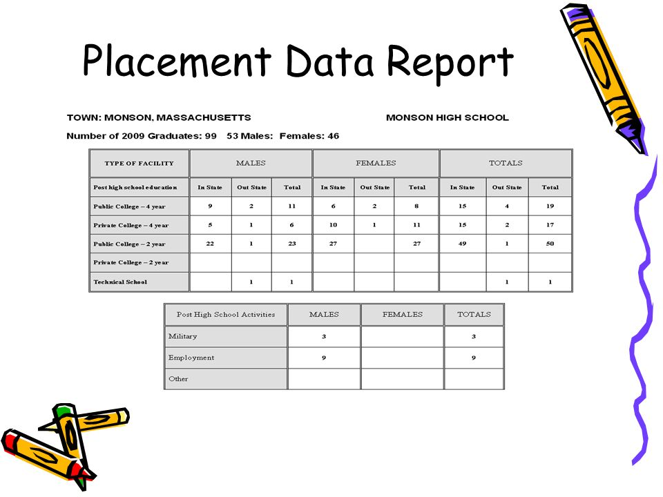 Placement Data Report
