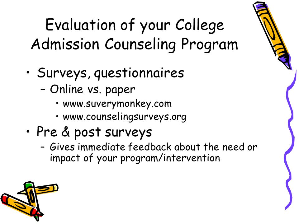 Evaluation of your College Admission Counseling Program