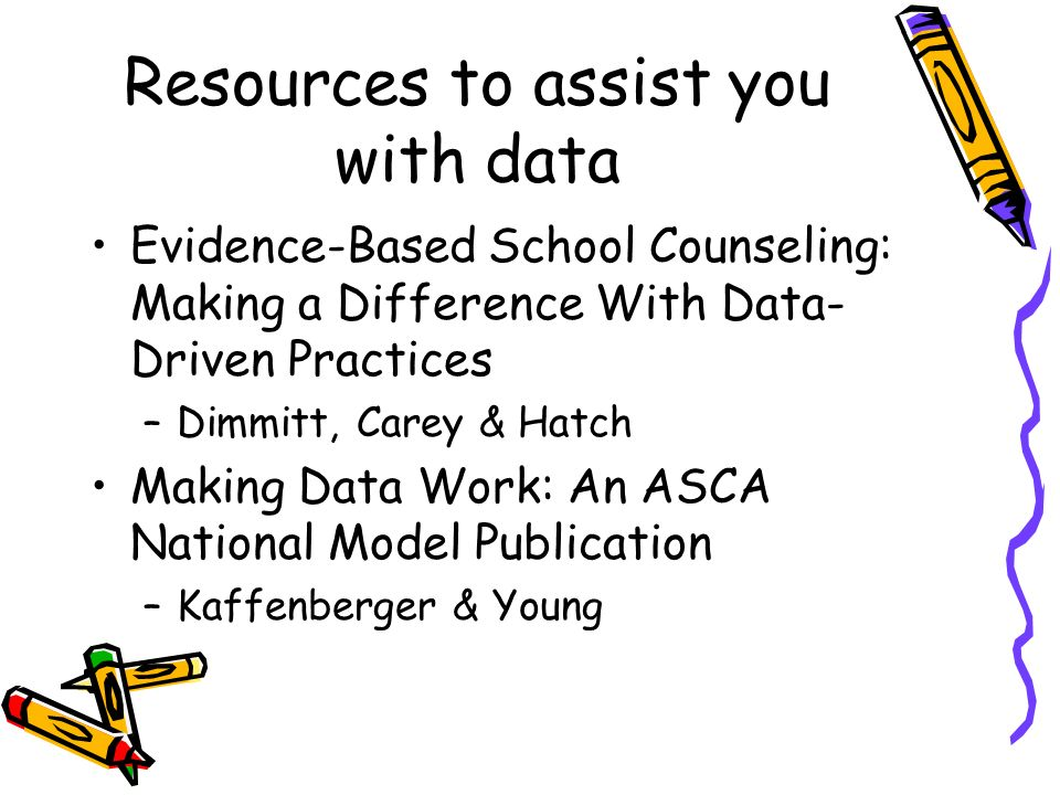 Resources to assist you with data