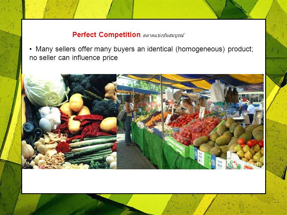 Perfect Competition ตลาดแข่งขันสมบูรณ์