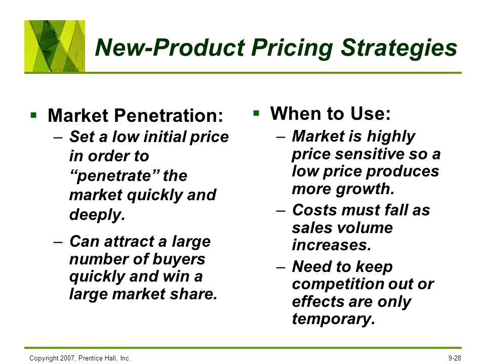 New-Product Pricing Strategies