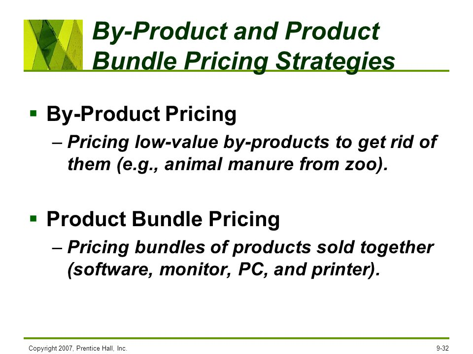 By-Product and Product Bundle Pricing Strategies