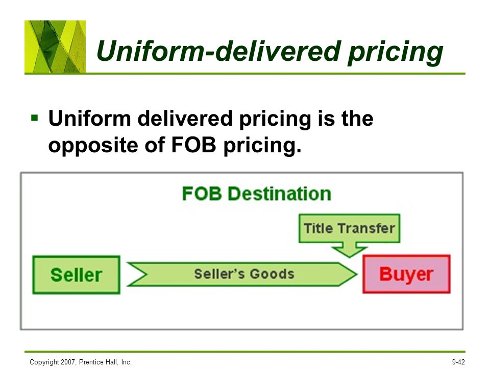 Uniform-delivered pricing