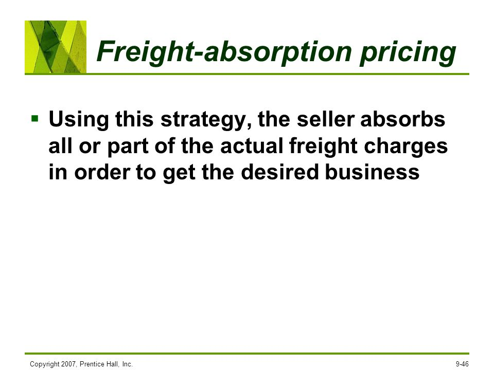 Freight-absorption pricing