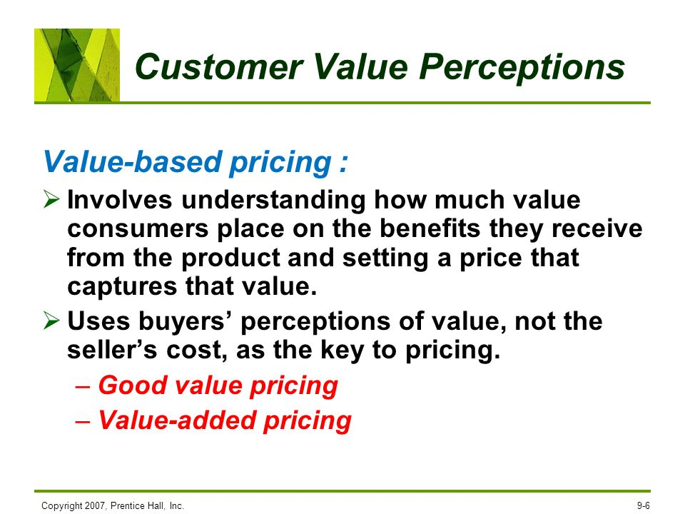 Customer Value Perceptions