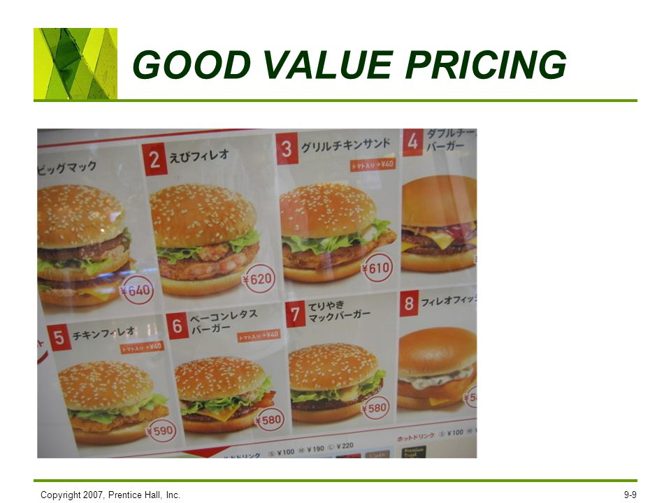 GOOD VALUE PRICING Copyright 2007, Prentice Hall, Inc.