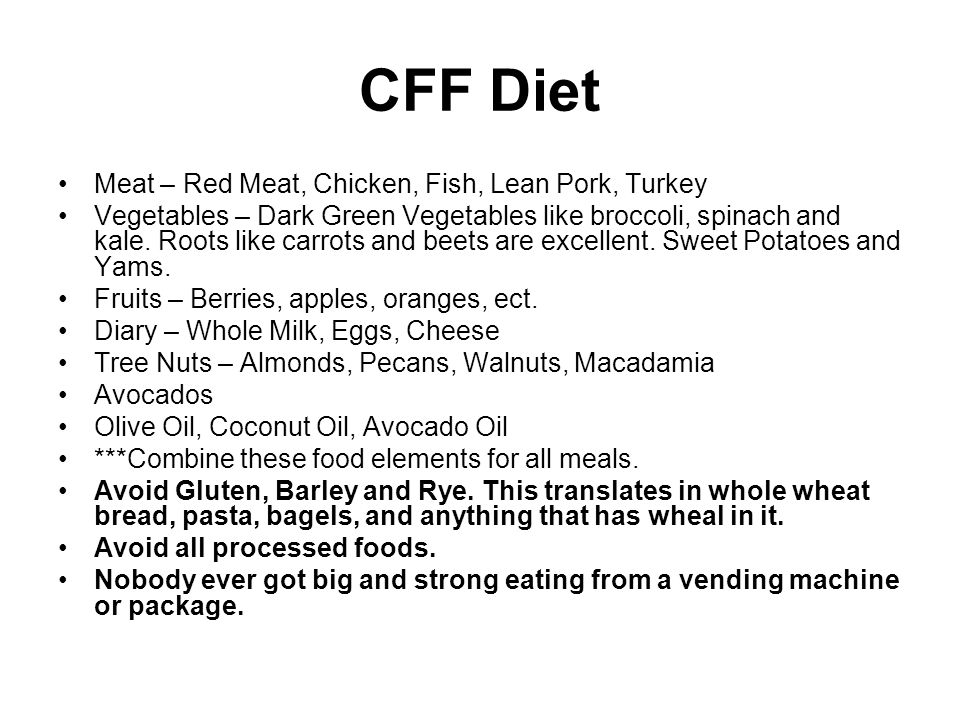 CFF Diet Meat – Red Meat, Chicken, Fish, Lean Pork, Turkey