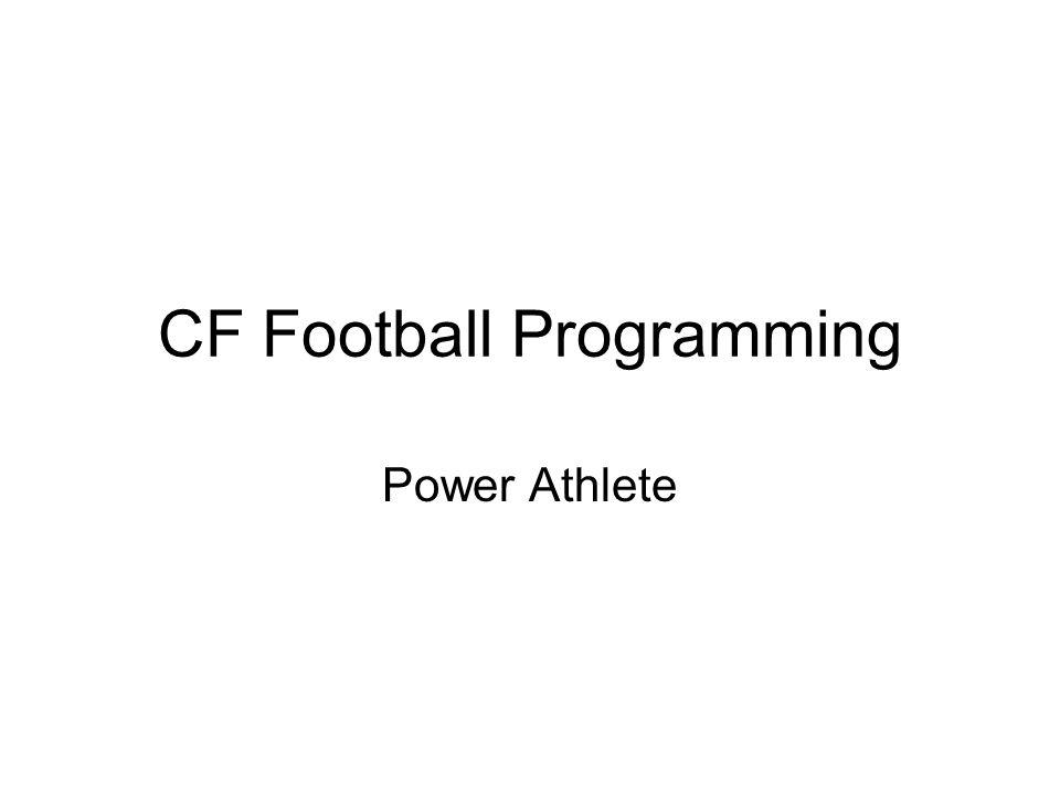 CF Football Programming