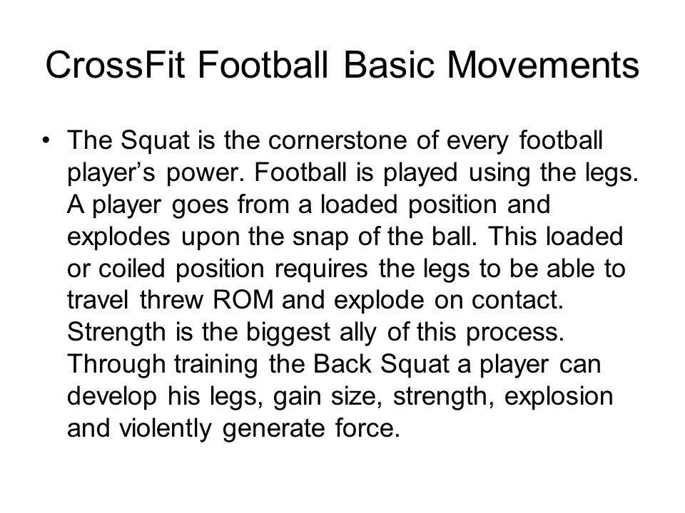 CrossFit Football Basic Movements