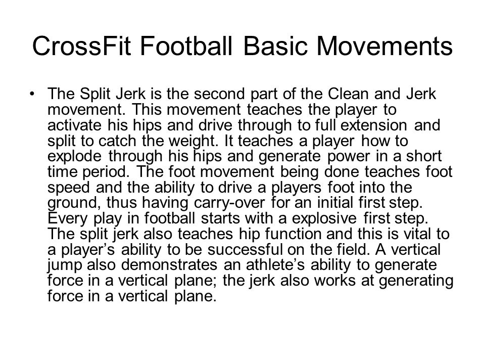 CrossFit Football Basic Movements