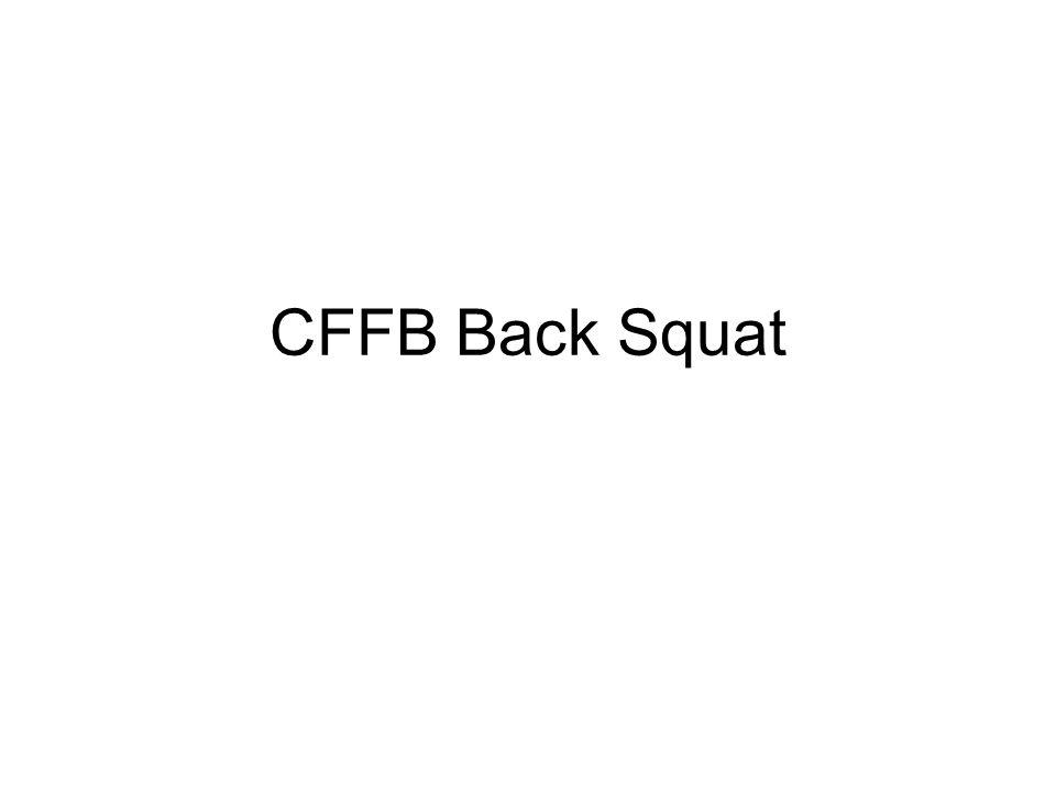 CFFB Back Squat