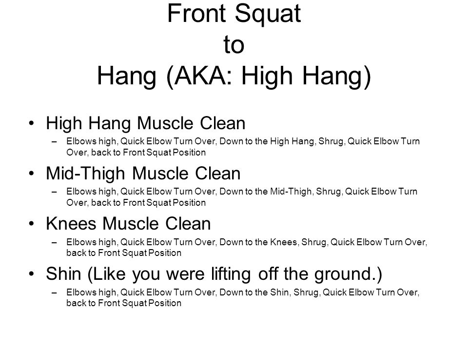 Front Squat to Hang (AKA: High Hang)