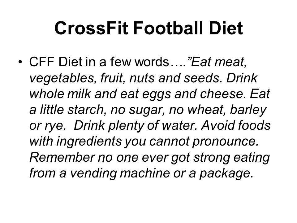 CrossFit Football Diet