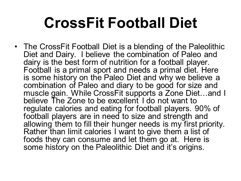 CrossFit Football Diet