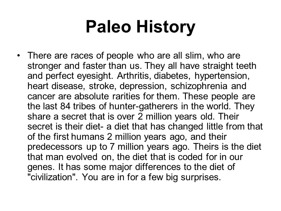 Paleo History