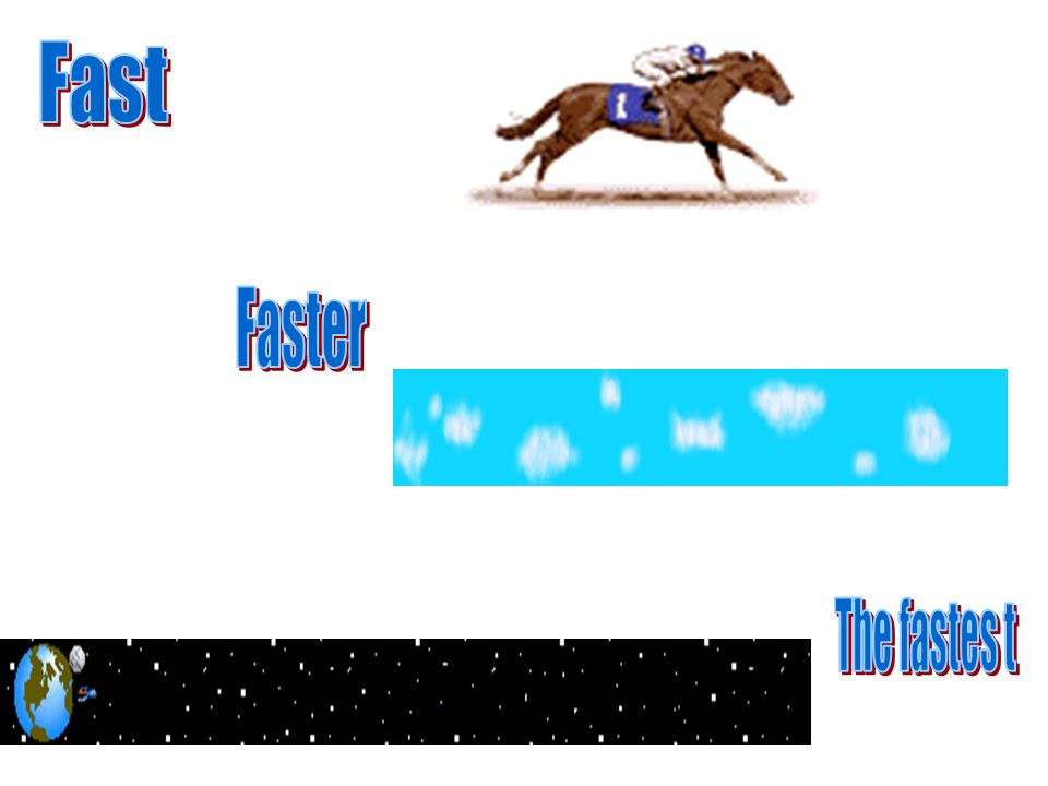 Fast Faster The fastes t