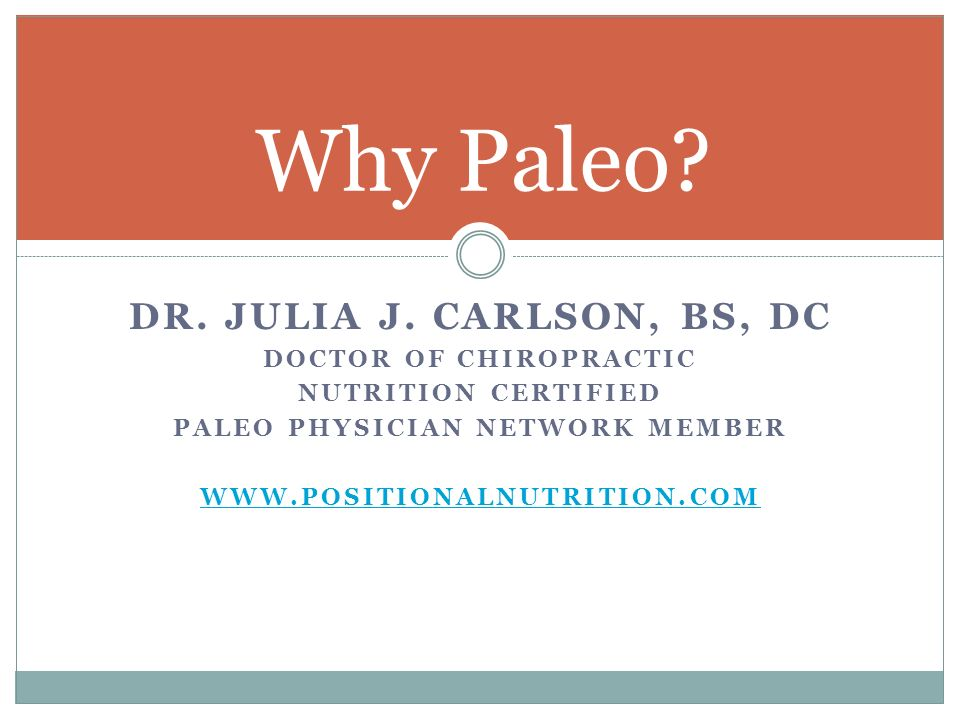 Doctor of Chiropractic Paleo Physician Network Member