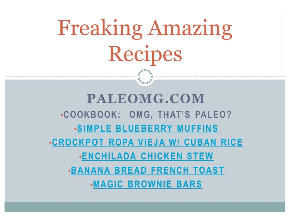 Freaking Amazing Recipes