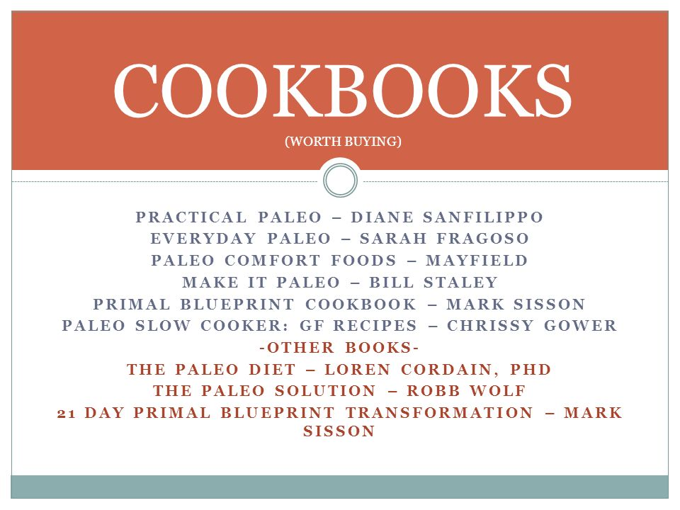 COOKBOOKS (WORTH BUYING)