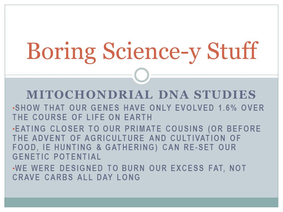 Boring Science-y Stuff