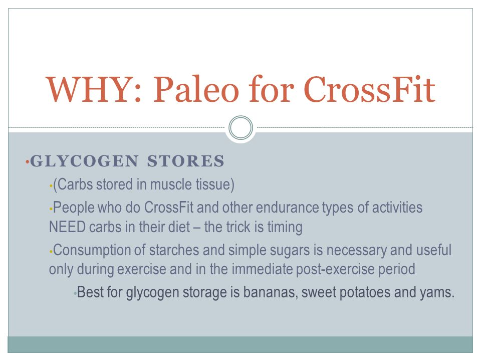 WHY: Paleo for CrossFit