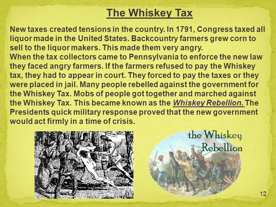 The Whiskey Tax