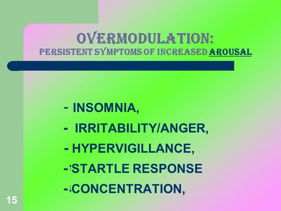 OVERMODULATION: PERSISTENT SYMPTOMS OF INCREASED AROUSAL