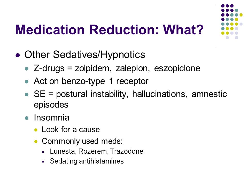 Medication Reduction: What
